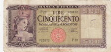 1947 Italy – Banca D'Italia – Cinquecento (500) Lire Bank Note