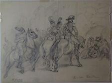 Carl Goebel, Römische Patrouille, beidseitige Zeichnung, signiert