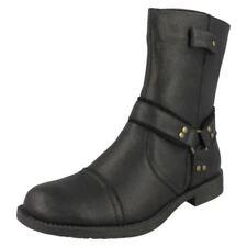 Calzado de hombre militar/con cordones negros sin marca