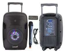 "STARAUDIO Pro 10"" 1500W PA Recharge Battery DJ Active Speaker with USB SD BT Mic"