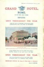 1908 New Hot Water System Installed In Grand Hotel Rome, Open all Year