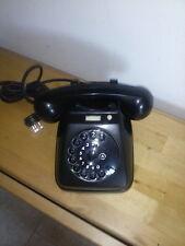 Telefono Vintage di colore nero sip telefonia fissa anni 60 design modello sip