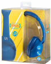 ULTRA COMFORT LIGHTWEIGHT URBAN REVOLT BLUE DUGA FOLDABLE HEADSET + IN-LINE MIC