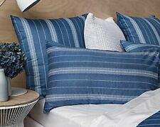 Sheridan Bramwell Housewife Pillowcase Indigo Blue One Pair SK009 FF 07