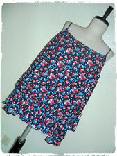 Tempted Navy Ditzy Floral Ruffled Bottom Off The Shoulder Blouse 2X