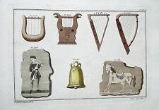 LYRA arpa CAMPANA Harpe Cloche violon violino violino laute ritornello bardo musica 1810