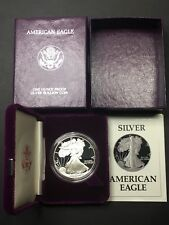 1987-S AMERICAN SILVER EAGLE ONE OUNCE SILVER PROOF COIN W/ BOX & COA