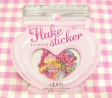 GAIA / Heart Sweets Clear Flake Sticker / Made in Japan 40 pieces Cake Candy