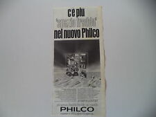 advertising Pubblicità 1966 FRIGORIFERO PHILCO