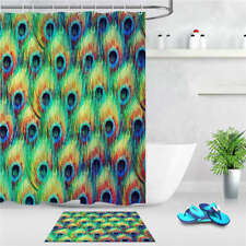 Showy Feather Waterproof Bathroom Polyester Shower Curtain Liner Water Resistant