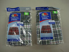 NWT Boy's Fruit Of The Loom (4) Boxer Shorts Size Small 6/8 Multi  #979A