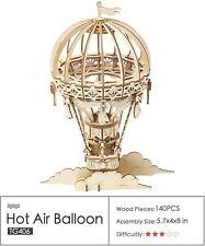 "Hot Air Ballon, ""Rolife"" Series, Laser-cut Birch Plywood, by Robotime"