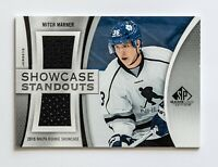 MITCH MARNER UD SP GAME USED JERSEY CARD SHOWCASE STANDOUTS DUAL PATCH LEAFS WOW