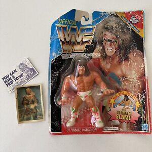 VINTAGE WWF Figure ULTIMATE WARRIOR 1990 Hasbro Mint WWE