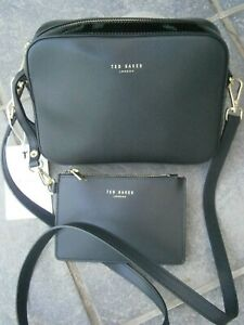 NEW 2 TED BAKER CROSSBODY LEATHER BAG & TED BAKER LEATHER POUCH.