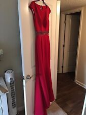 Terani Couture Red Gown Prom Evening Dress sz 4