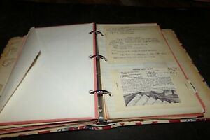 Lot 126 Vintage Recipe in book Type Handwritten Newspaper clippings Chinese Food