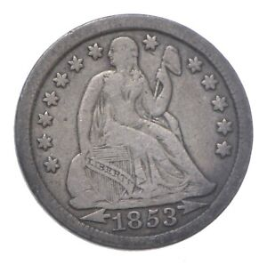 Full Liberty - 1853 Seated Liberty Silver Dime *250