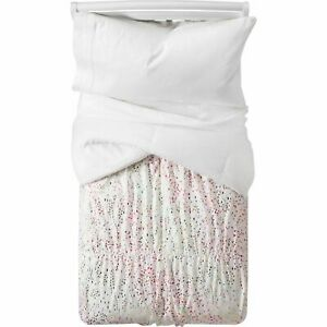 Pillowfort Iridescent Full Queen Size Comforter Set with Two Shams Multi Color