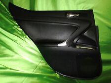 06 09 Lexus IS250 IS350 Left Rear Door Trim Panel BLACK LEATHER Sku M5-36