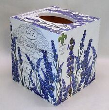 Made To Order, Handmade Decoupage Tissue Box Cover, French, Lavender, Paris