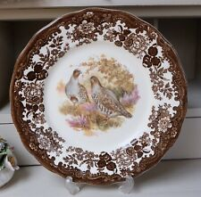 Vintage Royal Worcester Palissy Game Series PARTRIDGE Wall Decorative Plate 10""