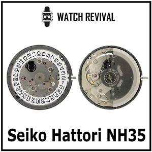 NEW 100% GENUINE SEIKO HATTORI NH35A WATCH MOVEMENT MADE IN JAPAN UK SUPPLIER