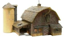 N Scale - OLD WEATHERED BARN - LED Light - FACTORY BUILT- WOO-BR4932