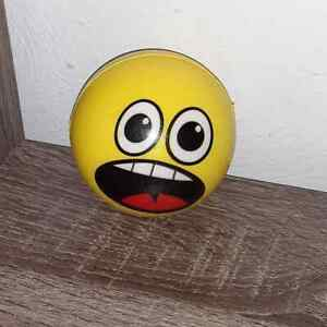 """NEW Spongy Foam EMOJI BALL Toy ~ Surprise Face ~ Firm Non-Bounce 3"""" ~ Therapy"""