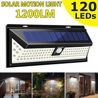 20/42/55/88/120 LED Solar Power PIR Motion Sensor Wall Security Light Waterproof