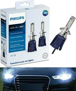 Philips Ultinon LED Kit 6000K White H7 Two Bulbs Head Light Low Beam Replace OE
