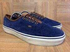 RARE🔥 VANS Era Blue Suede Brown Leather Men's Shoes Sz 9 Authentic Skateboardin