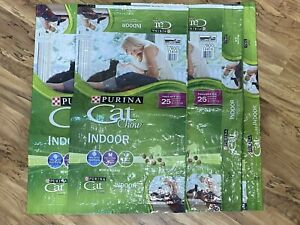 4-Empty Purina Cat Chow Indoor Food Bags-For Crafting
