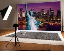7x5ft Background Statue Of Liberty Scene Vinyl Photo Backdrop Studio Props City