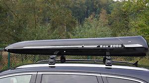 Premium Dachbox ALB 390 schwarz von Mobila  stabile Dachbox und Surfbox