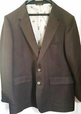 Rich Chocolate Brown Mens Vintage Sportcoat Blazer Jacket Size 42R