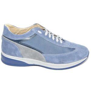 Scarpe uomo blu navy calzature comode linea comfort made in italy in vera pelle