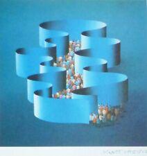 KURT LARISCH HAND SIGNED  1984 LITHOGRAPH AUSTRIAN/MEXICAN/US