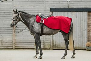 Dark Horse Fleece Exercise Sheets Pony Cob Full Ruby Red Fast & Free Delivery