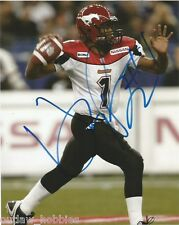 Calgary Stampeders Henry Burris Signed Autographed 8x10 Photo COA