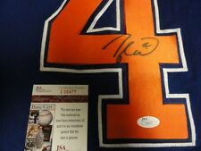 TAYLOR HALL SIGNED EDMONTON OILERS JERSEY PROOF LICENSED JSA AUTHENTICATED
