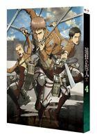 Attack on Titan Vol.4 LTD BD Blu-ray Soundtrack CD Japan Shingeki no Kyojin