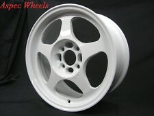 15X6.5 +40 SLIPSTREAM 4X100 WHITE RIM Fit Toyota Yaris Mr2 Celica Corolla Tercel
