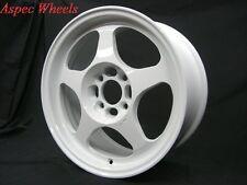 15X6.5 +40 SLIPSTREAM 4X100 WHITE RIM Fit Toyota Yaris Mr2 Celica Corolla Tercel