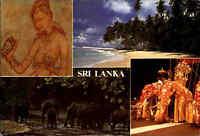 SRI LANKA (Ceylon) Postkarte Multi-View Pc. with Elephants, Beach, Strand uvm.