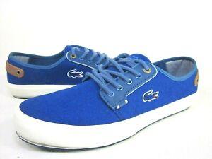 LACOSTE MEN'S SAULIEU CHUNKY AP CANVAS FASHION SNEAKERS,BLUE SIZE SIZE 12, 13