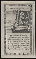 santino incisione 1600 S.SERVAZIO V. DI TONGRES
