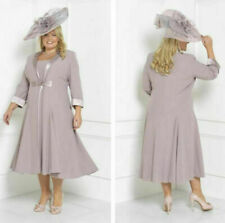 Chiffon Mother of the Bride Outfits Free Jacket Evening Prom Party Gray Dresses