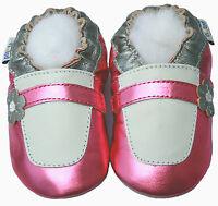 Littleoneshoes(Jinwood) Soft Sole Leather Baby MaryjanePink Shoes 6-12M