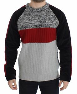 DOLCE & GABBANA Sweater Knitted Wool Cashmere Crewneck Pullover IT44/XS RRP $920